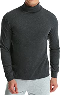 MODCHOK Men's Turtleneck T-Shirt Long Sleeve Pullover Thermal Sweaters Slim Fit Shirts Lightweight Tops