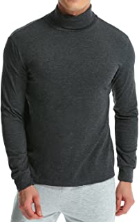 MODCHOK Men's Casual Slim Fit Pullover Sweaters Knitted Turtleneck Thermal Basic Tops Long Sleeve T-Shirt