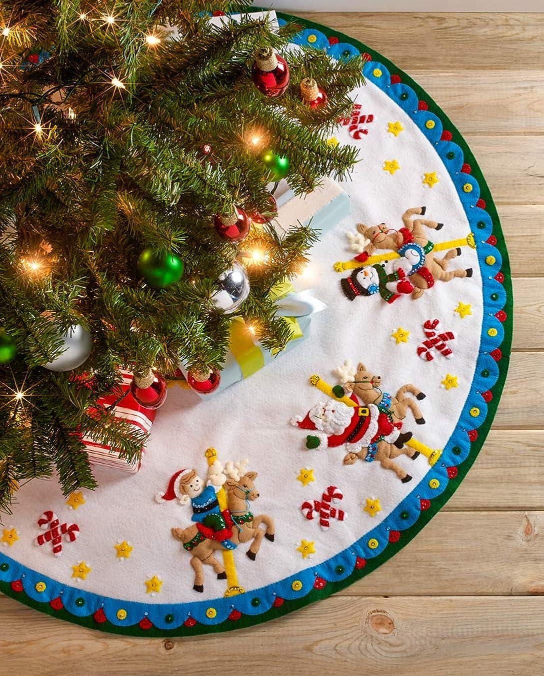 Bucilla 86951E Felt Applique Kit, Carousel Santa