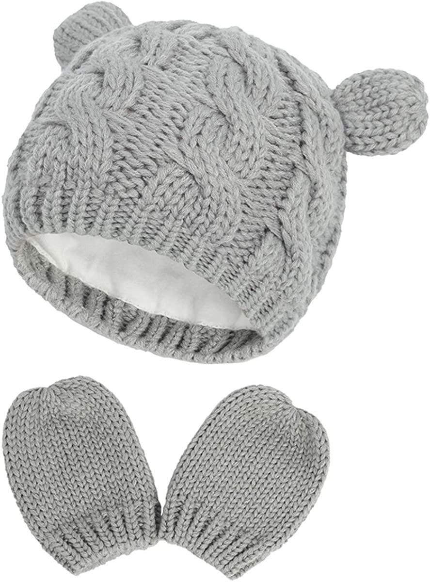 unisex Baby Hat and Gloves Warm Protective Super sale period limited Children Knitting Cu Toddler