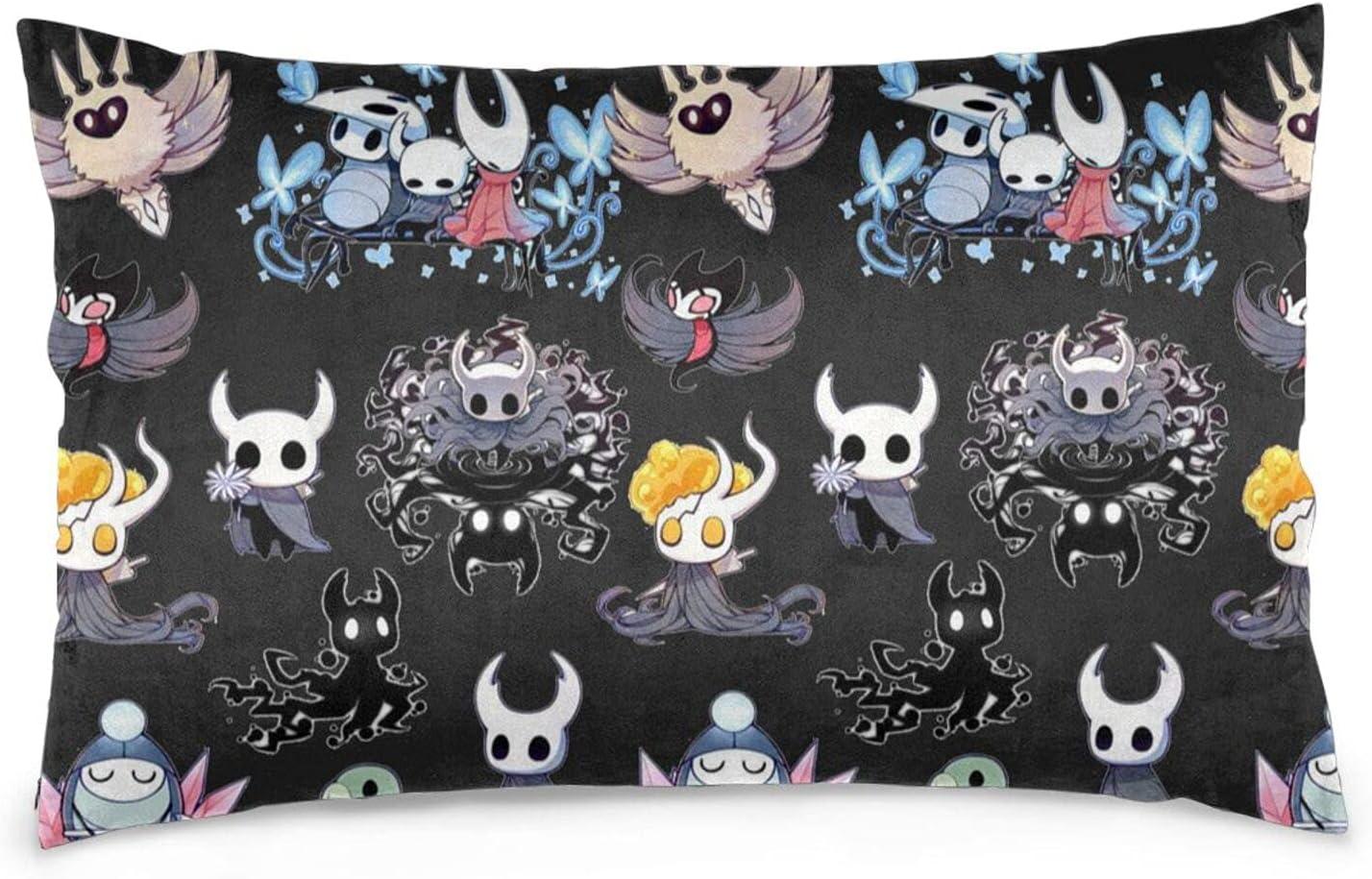 Hollow-Knight Pillow Cases Bedding SALENEW very popular Philadelphia Mall Zippers Hidden Anti-Wrinkl