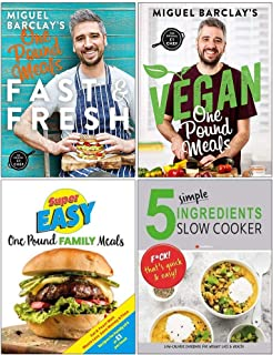 Fast and Fresh One Pound Meals, Vegan One Pound Meals, Super Easy One Pound Family Meals, 5 Simple Ingredients Slow Cooker 4 Books Collection Set