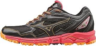 Mizuno Women's Wave Daichi 2 (W) Trail Running Shoes, Black (Black/Black/Diva Pink), 8 UK 42 EU