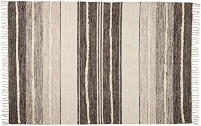 """Woven Tufted Rug - 4"""" x 6""""   Black   Oblong   1 Pc."""