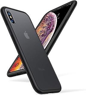 TORRAS iPhone Xs ケース iPhone X ケース 半透明 耐衝撃 米軍MIL規格マット感【2020年新型】ストラップホール付き SGS認証 黄変防止 Qi充電対応 アイフォン X/Xs用カバー(ブラック)