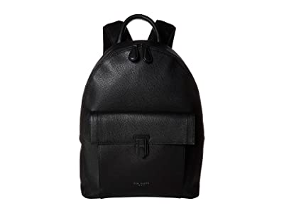 Ted Baker Eastmo Colored Leather Backpack (Black) Backpack Bags