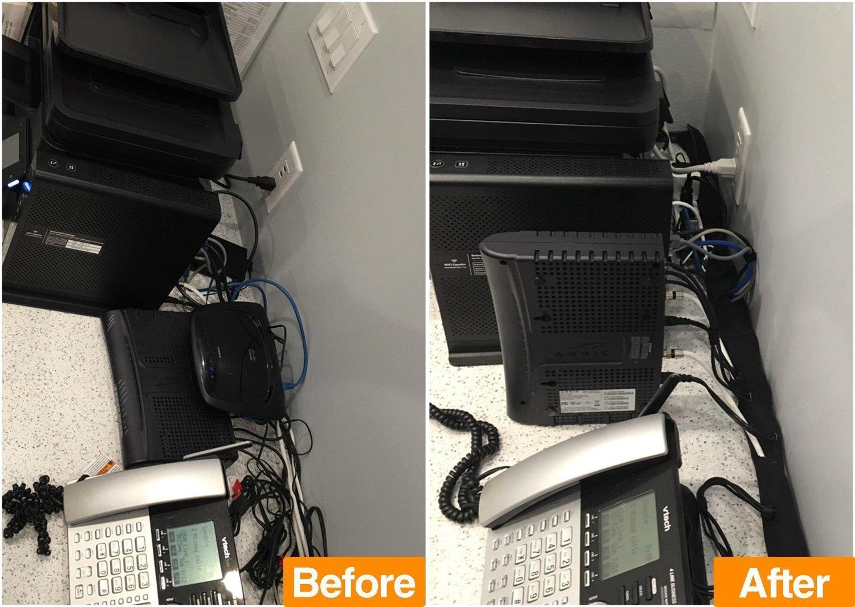 Gifort 2 pieza Organizador cables, Funda Con Velcro Para Cables En ...