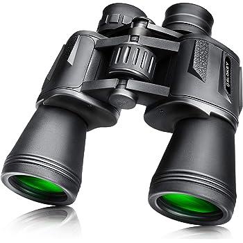 lahomie Potentes Prism/áticos HD Compactos Binocular Telescopio de Binoculares de Visi/ón Nocturna con Zoom de 180 x 100 con Estuche para Viajes de Senderismo al Aire Libre