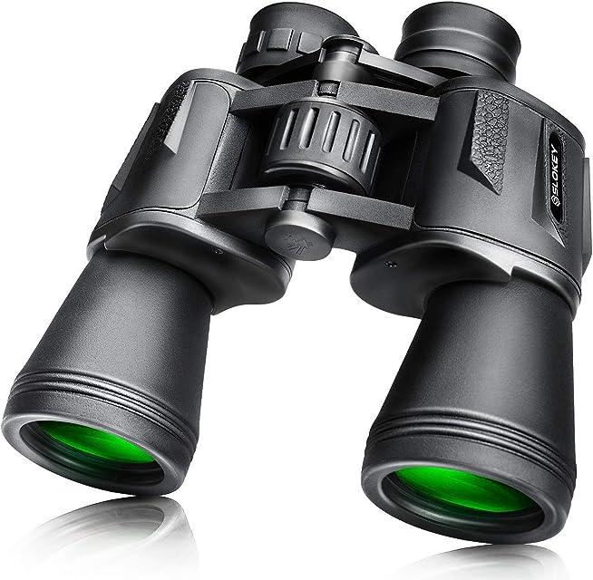 Prismáticos 10x50 Slokey – Binoculares Largavista Profesionales de Largo Alcance y Potentes para Adultos. Ideales para Caza Astronomía Observación de Aves y Camping. Incluye Funda Correa y Gamuza