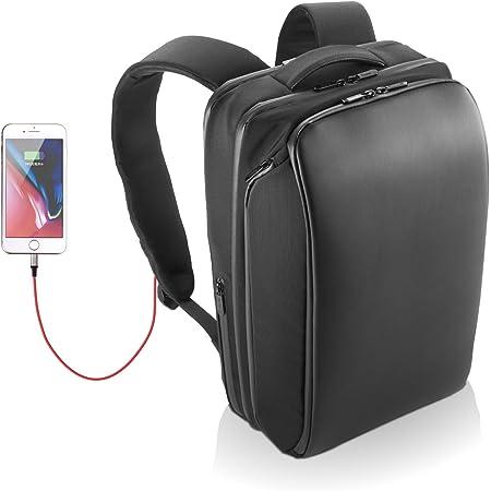 エレコム ビジネスバッグ リュック バックパック Ruminant 撥水 大容量 4気室 USB充電ポート付 13.3インチPC/15.6インチPC/A4対応 ブラック BM-RNBP01BK