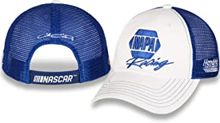 Checkered Flag Chase Elliott 2019 Napa Racing Mesh NASCAR Unstructured Hat/Cap White, Blue