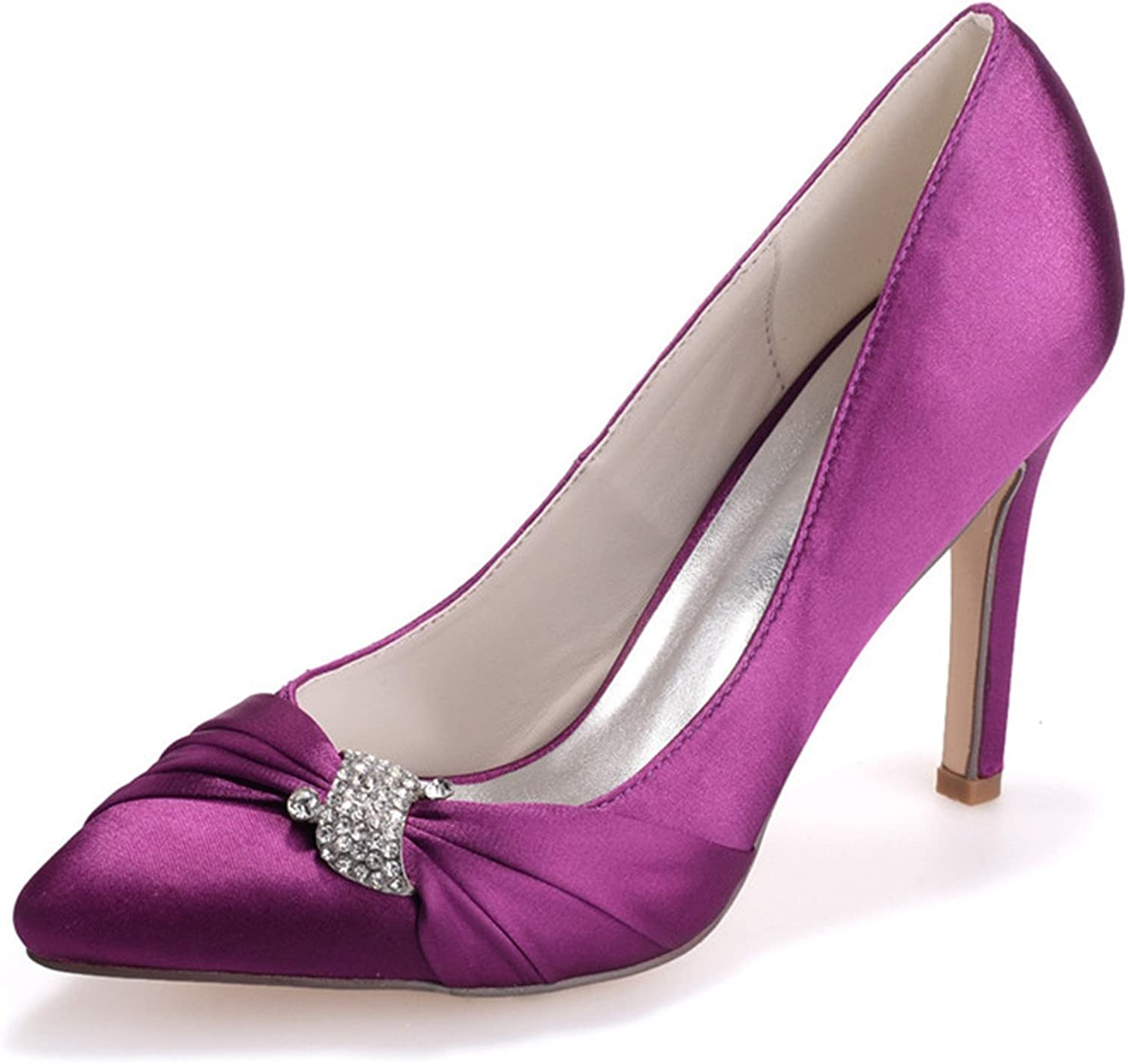 Uryouthstyle Beaded Closed Toe Pumps High Heels Stylish Prom Dress shoes