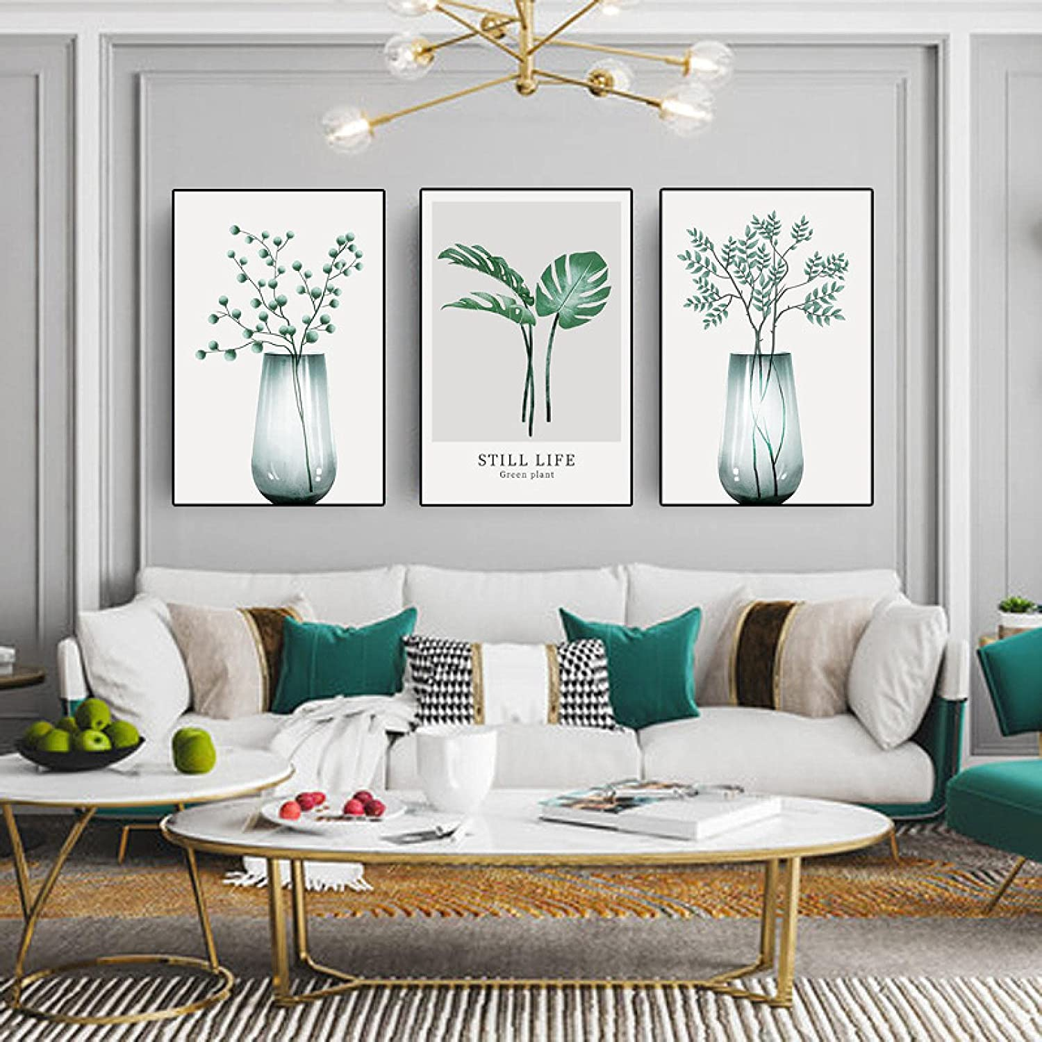 Canvas Painting Modern Plant High quality Manufacturer OFFicial shop Green Wall Prints Art Leaf Posters