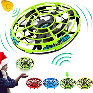 Flying Toys Drones for Kids Mini Drone, Flying Ball RC UFO Flying Saucer Toys Hand & Remote Controlled Quadcopter for Kid Light Up Flying Ball Toys Hover Christmas Holiday Gift for Indoor Outdoor