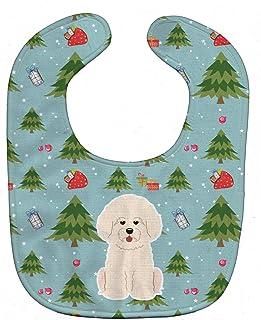 Caroline's Treasures Christmas Baby Bib, Bichon Frise, Large