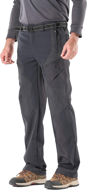 KORAMAN Men's Insulated Outdoor Hiking Pants San Antonio Mall Windproof Max 57% OFF Softshell