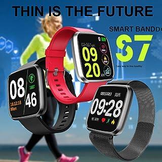 Leoboone S7 - Pulsera inteligente con pantalla a color, para deportes, cuenta de pasos, sueño, monitoreo de ritmo cardíaco, pulsera deportiva