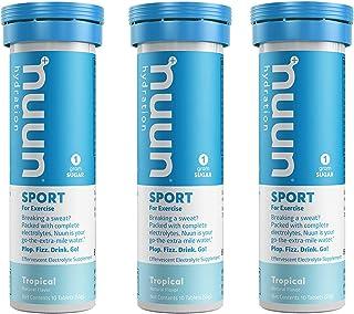 Nuun Active: Tropical Fruit Electrolyte Enhanced Drink Tabs (3 Tubes of 10 Tabs)