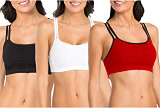 Fruit of the Loom Women's Cotton Pullover Sport Bra(Pack...