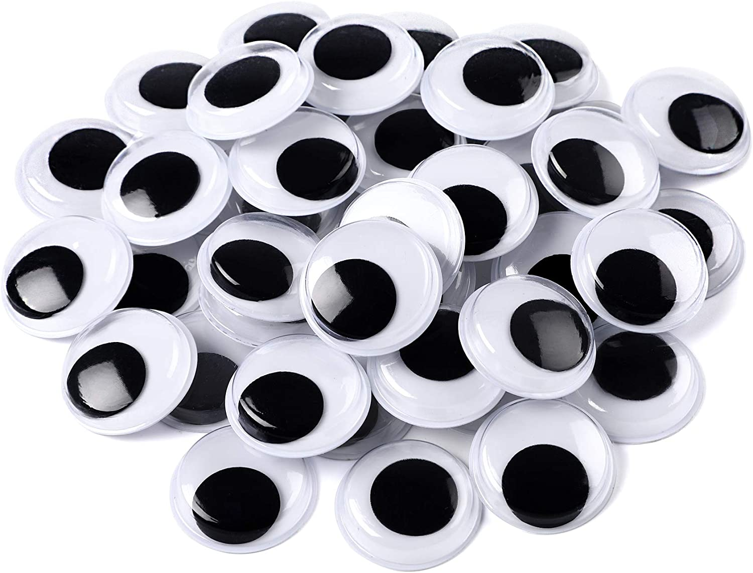 Recommended 200 Pieces Wiggle Eyes Self White for Adhesive Black Googly Weekly update