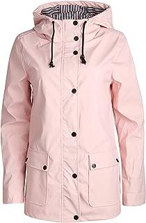Women's Lightweight Vinyl Hooded Raincoat Jacket