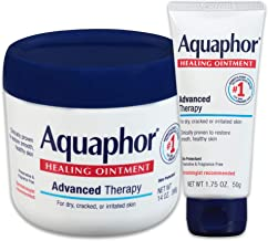 Aquaphor Healing Ointment - Variety Pack, Moisturizing Skin Protectant For Dry Cracked Hands, Heels and Elbows - 14 oz. jar + 1.75 oz. tube