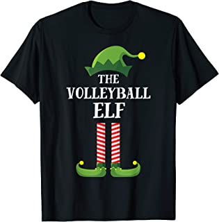 Volleyball Elf Matching Family Group Christmas Party Pajama T-Shirt