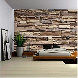 wall26 - Modern Neutral Colored Brick Pattern Wall - Wall Mural, Removable Wallpaper, Home Decor - 100x144 inches