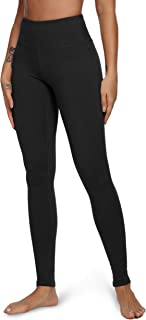 Queenie Ke Women Power Flex Yoga Pants Workout Running Leggings Size XXXL Color Midnight Black Long