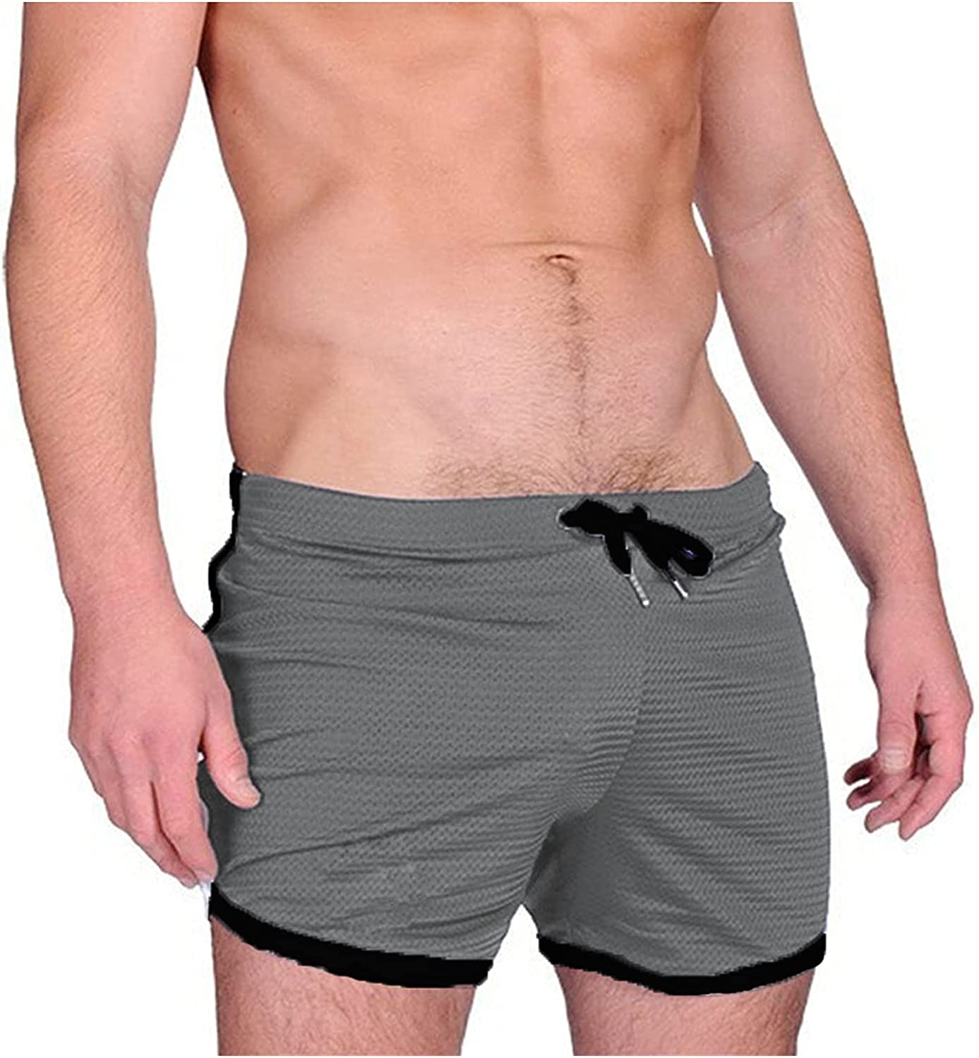 Burband Mens Shorts Quick Dry 3 Inch Athletic Workout Gym Shorts Summer Outdoor Mesh Running Training Joggers Big and Tall