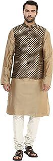 KISAH Men's Kurta Pyjama with Waist Coat