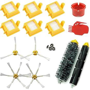 RoxTop 3pcs de vac/ío de Limpieza del Robot Cepillo de Repuesto para iRobot Roomba Serie 500//600//700 vac/ío pr/áctico Accesorios para aspiradoras Blanco Amarillo