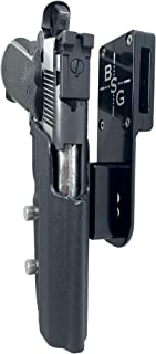 Black Scorpion Outdoor Gear Professional Heavy Duty Competition Holster OWB Kydex fits 1911 Govt. Classic 5'' 9 mm, 40 S&W, 45 ACP; IPSC, USPSA, 3-Gun Approved, Adjustable in All Angles and Retention