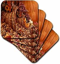 3dRose cst_34758_2 Autumn Harvest 3D-Soft Coasters, Set of 8