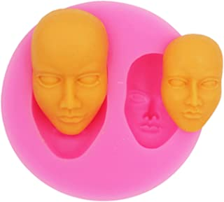 COMIART Small Face Silicone Mold,Soap Clay Fimo Chocolate Baking Tool DIY Cake Silicone Mold for Cake Decoration