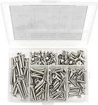 HVAZI 8#-32 304 Stainless Steel Phillips Flat Head Machine Screws Assortment Kit (8#-32)