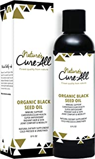 Organic Black Cumin Seed Oil (8oz) | Nigella Sativa | with Thymoquinone | Omega 3 6 9, Super Antioxidant for Immune Support, Joints, Digestion, Hair and Skin | Pure, Vegan & Finest Quality.