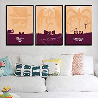 Empty Art Decor Minimalist Hot Tv Series Shows Friends Breaking Bad Game of Thrones Wall Art Canvas Painting Silk Poster -...