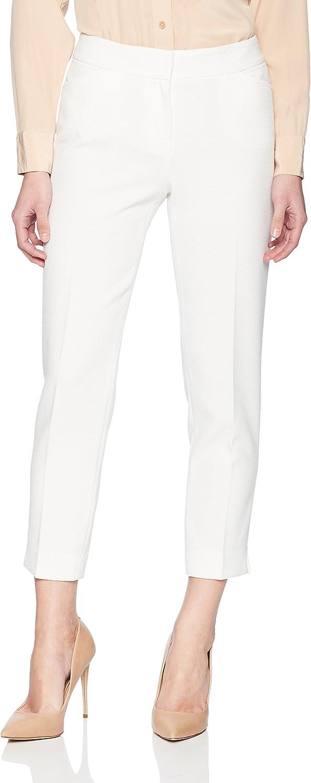 Kasper Womens Petite Knit Pique Pant Pants