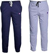 Vimal Navy Blue And Grey Men's Cotton Trackpants ( Pack Of 2)