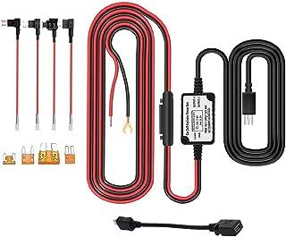 Dashcam Hardwire Set, 5 m, Mini USB/Micro USB, Auto Hardwire Kit 12 V 24 V auf 5 V, Fahrzeug Netzadapter mit ACU/ACN/ACZ/Micro2 Sicherung für Dashcam, GPS Navigator, Radardetektor, Navi
