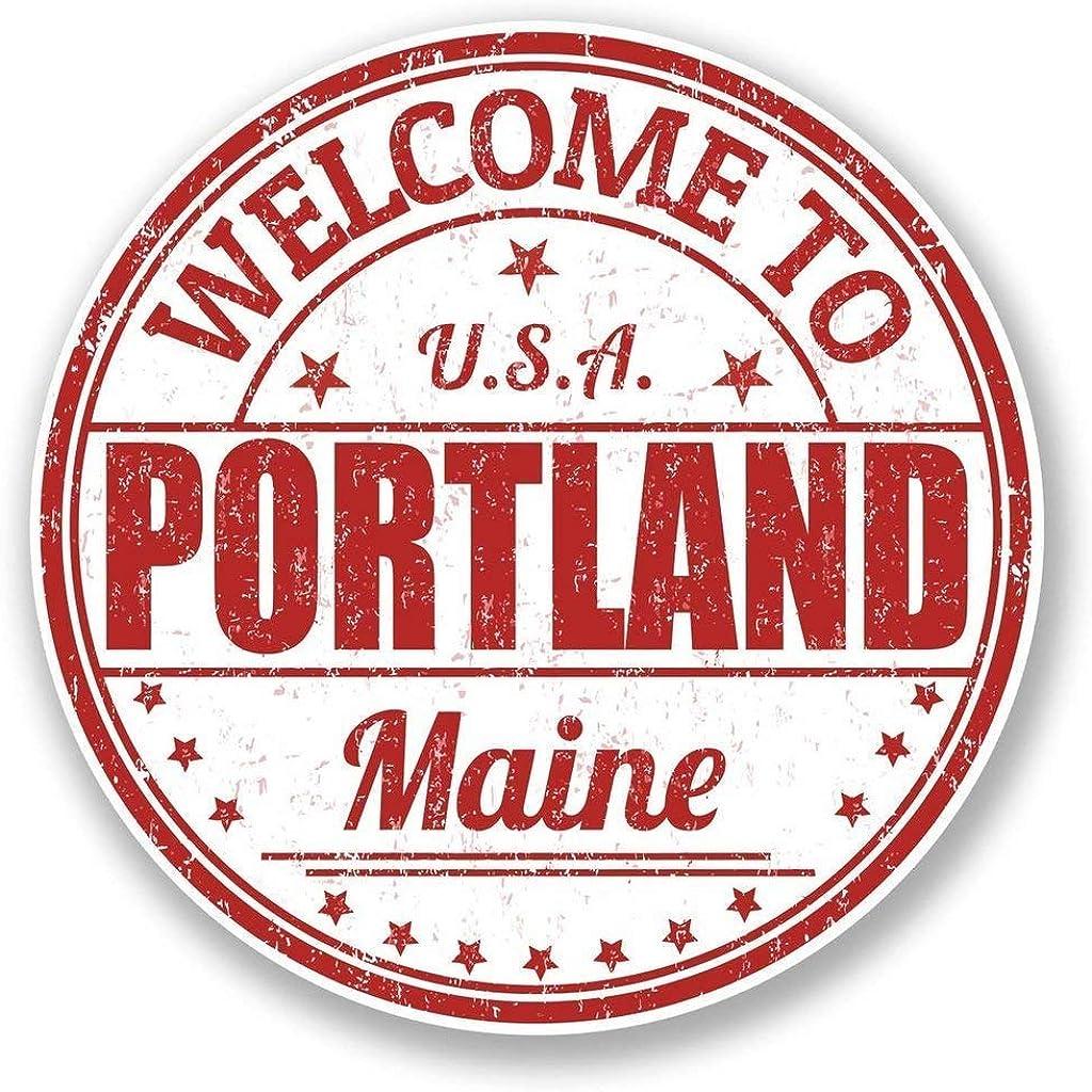 Portland Maine USA Round Metal 0.75