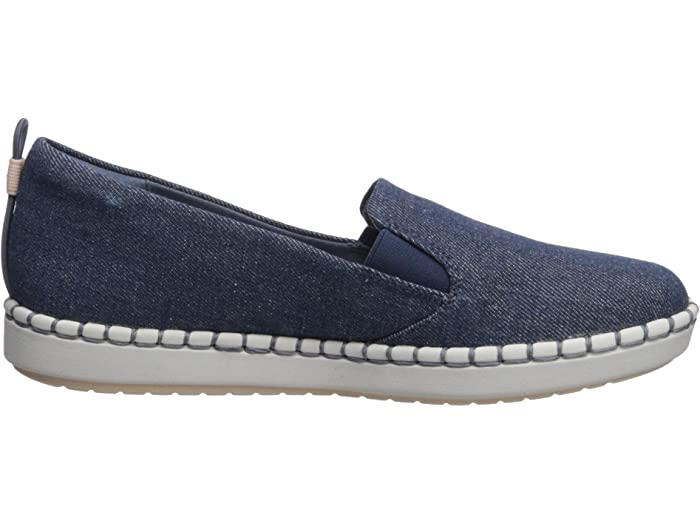 Clarks Step Glow Slip Denim Textile Sneakers & Athletic Shoes