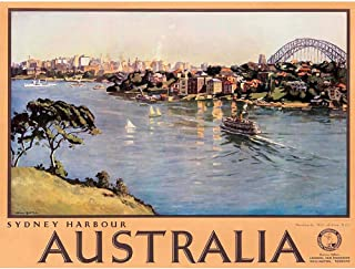 Wee Blue Coo Travel Tourism Sydney Australia Harbour Bridge Unframed Wall Art Print Poster Home Decor Premium