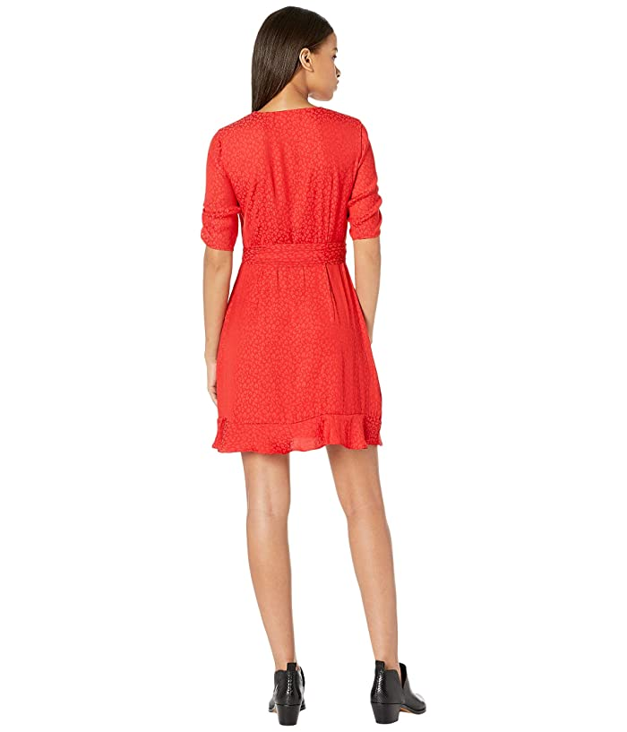 1.state Cinched Sleeve Tonal Leopard Wrap Front Dress - Ropa Vestidos