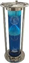 Nautical Blue Liquid Sand Timer Vintage Brass Hourglass Kelvin & Hughes 1917 London Maritime Home Decor 8