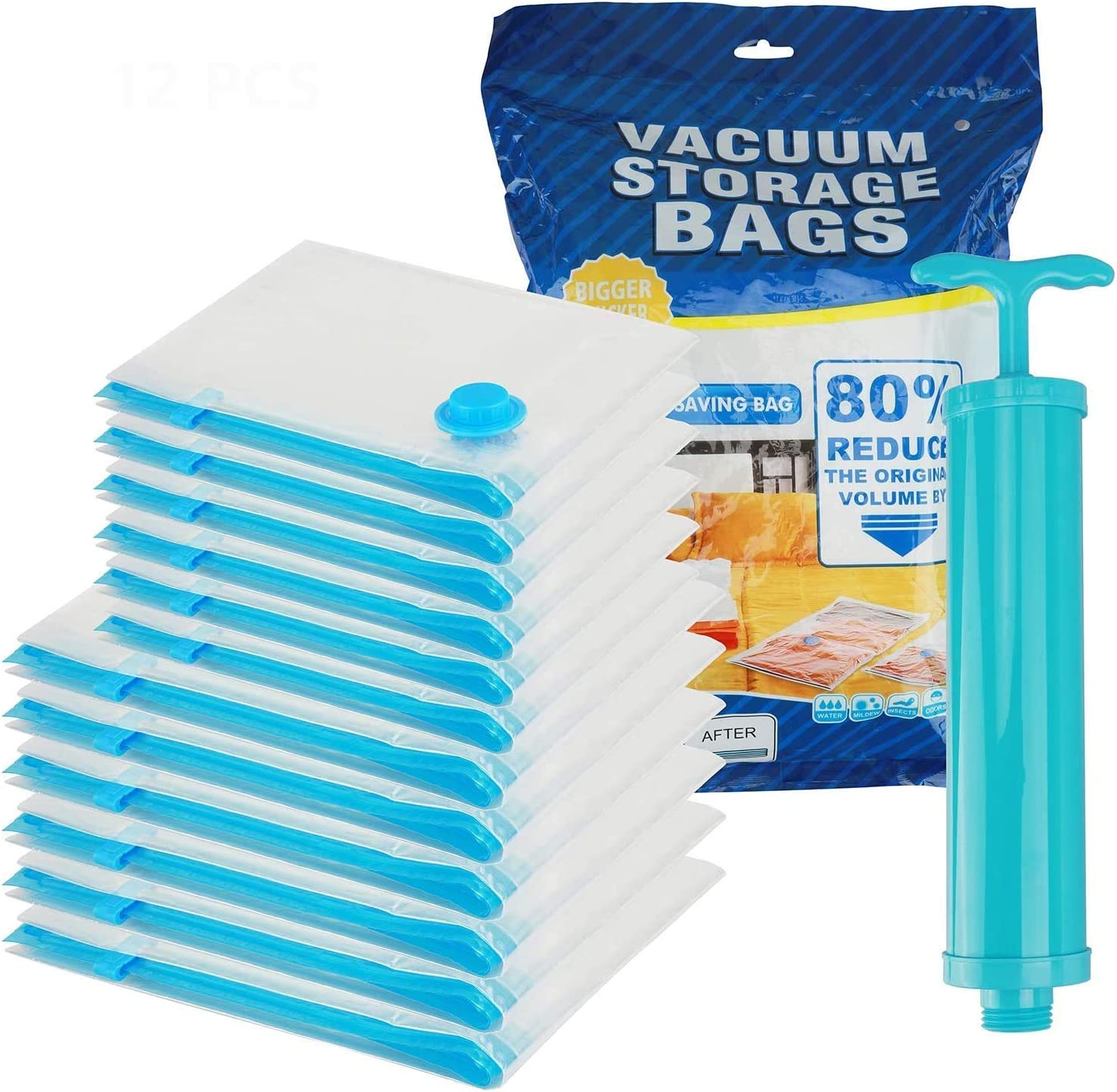 ideallife Premium Vacuum Storage Latest item Bags Shipping included Saver Space 12-Pack