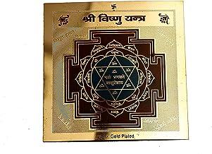 STYLE OK Gold Plated Shri Vishnu Yantras
