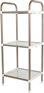 Bathroom Shelf 3 Tier Shelf Organizer, Space Saving Shelf for Closets, Entryways, Doorways, Mudrooms, Garages and Home Storage, Expandable and Stackable with Other Shelves, Perfect for Organization