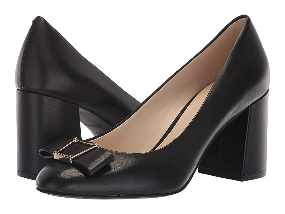 Cole Haan Emory Bow Pump (Black Leather) Women